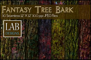 30 Fantasy Tree Bark Textures