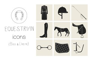 Equestrian icons
