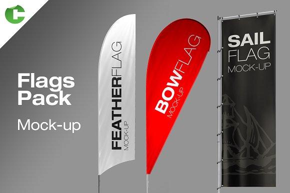 Download Flag Pack Mock-up