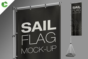 Sail Flag Mock-Up
