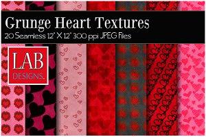 20 Grunge Heart Textures
