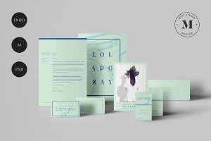 Lola & Gray Stationary Set