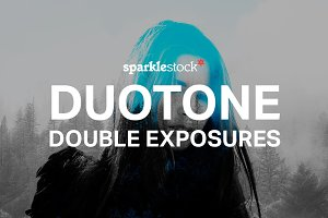 Duotone Double Exposures