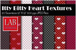 20 Itty Bitty Heart Textures