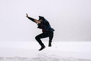 Andrew over Snow