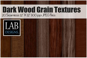 20 Dark Wood Grain Textures