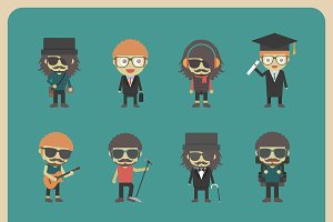 all hipster character set