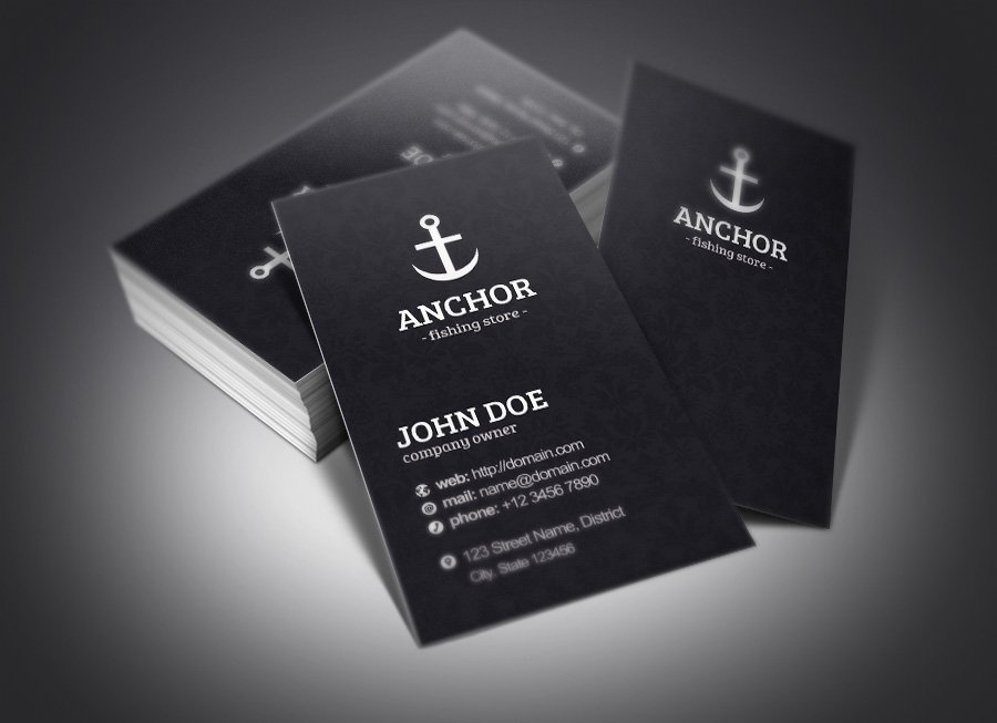 Anchor business cards business card templates creative market fbccfo Choice Image