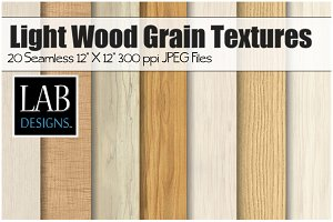 20 Light Wood Grain Textures