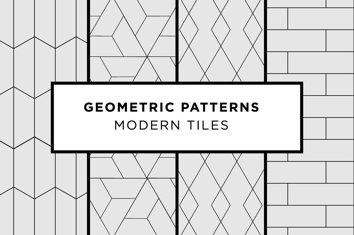 Geometric Patterns - Modern Tiles ~ Patterns ~ Creative Market