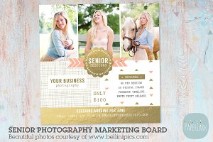 Senior Mini Session Template Flyer Templates Creative