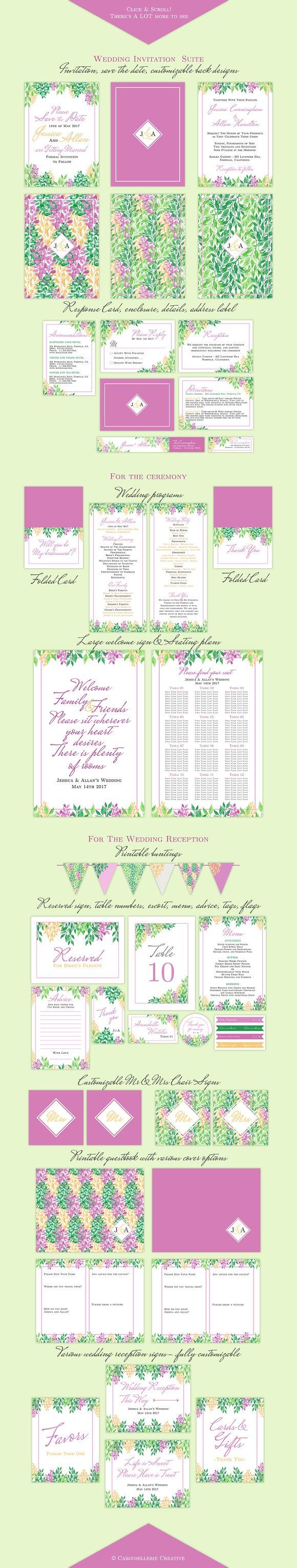The Comprehensive DIY Wedding Kit ~ Invitation Templates ~ Creative ...