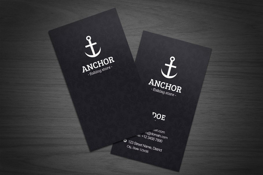 anchor business cards  creative business card templates