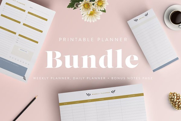 Stationery Templates: The Template Depot - Printable Planner Bundle