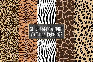 Animal Print Vector Patterns