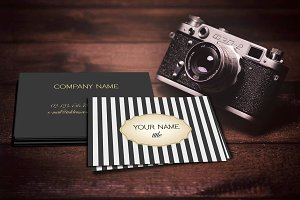 Realistic Business Card Mockup Set
