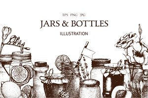 Vintage Jars & Bottles Collection