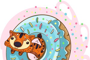 Tiger and Donut
