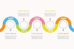 Timeline infographic snail ribbon