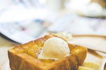 Sweet bread and honey toast