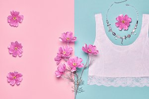 Fashion girl accessories summer set, date outfit