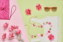 Summer Fashion woman clothes accessories set