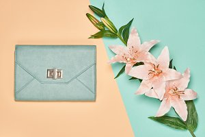 Summer Fashion woman accessories set, lily flowers