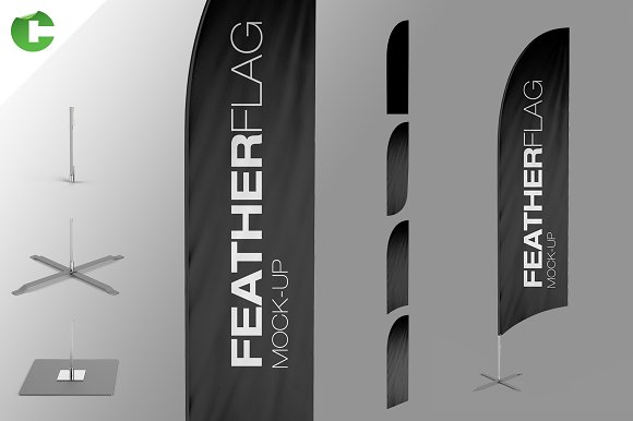 Free Feather Flag Mock-Up
