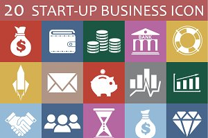 20 startup business icon