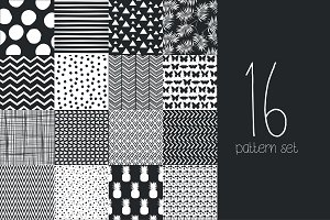 16 Hand draw pattern set