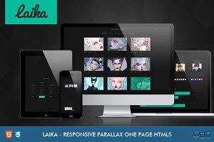 Laika Responsive One Page Portfolio