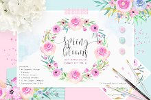 Spring Blooms - Watercolor Flowers