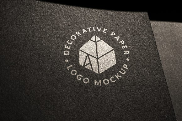 Download Decorative Paper Logo Mock-up 2