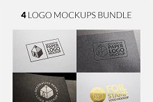 4 Logo Mock-ups Bundle