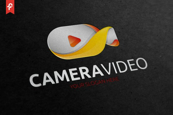 Camera Video Logo in Logo Templates - product preview 2