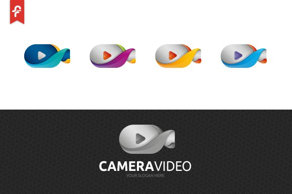 Camera Video Logo in Logo Templates - product preview 3
