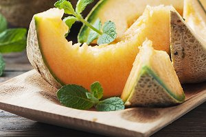Fresh sweet melon, square image