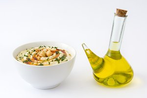 Hummus and olive oil