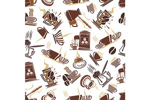 Coffee shop seamless pattern