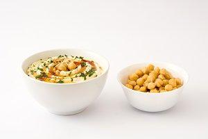 Hummus and chickpeas
