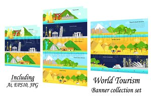 World continent tourism banner pack!