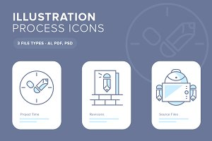 Illustration Process Icons