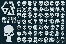 63 Vector Skulls Collection