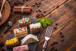 Assorted mini cakes
