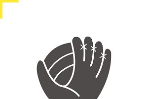 Baseball glove icon. Vector