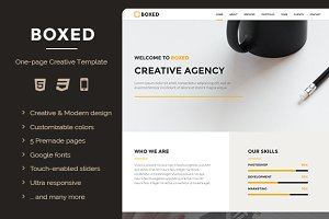 Boxed - One-page Creative Template