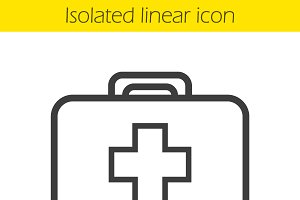 First aid kit icon. Vector