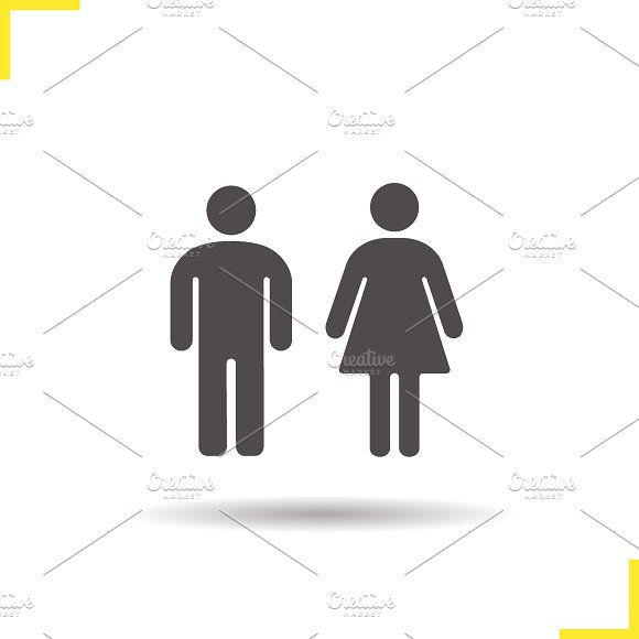 Men and women WC sign icon. Vector - Icons