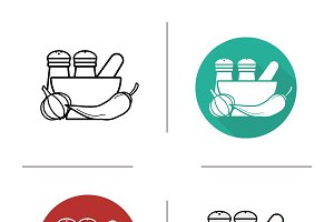 Spices icons. Vector