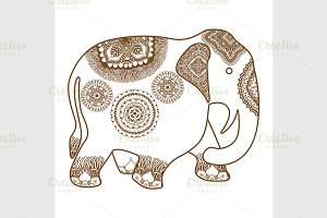 vector hand-drawn Elephant